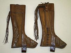 Mexican gaiters.  18th -19th century.  Leather.