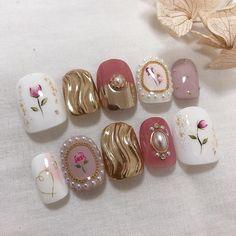 Luv Nails, Nails Now, Xmas Nail Art, New Nail Art, Japan Nail Art, Kawaii Nail Art, Asian Nails, Self Nail, Korean Nail Art