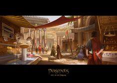 ArtStation - Persepolis- Parsa marketplace, Ryan Teo