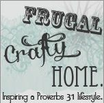 Frugal Crafty Home Blog Hop. This is a great place to check out every Monday to get great ideas for crafts, home projects and ideas of how to save money.  You can come just to check out the links or you can share some of your own.