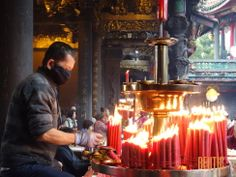 Longsan Temple is always the top pilgrimage for tourists and locals. People hold incense stick and tell their wishes to the God and pray for a life in the coming year . At the same time, there are many senior volunteer busy with all the dirty work , from toilet cleaning to fortune telling, thanks for everything they have done , it makes the temple a unique and warm place to visit .