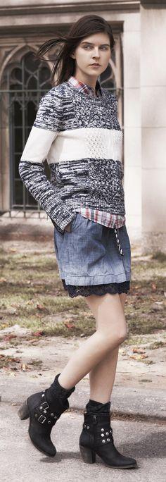 Hilfiger Denim FW13 Camie Sweater #hilfigerdenim #tommyhilfiger #FW13 #womenswear #Autumn2013