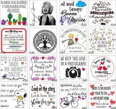Etiquetas Frascos Botellas Transparentes X12 Unid 8x8.5 Cm - $ 90,00 en Mercado Libre Silhouette Studio, Silhouette Cameo, Great Sentences, Typography, Lettering, Doodles Zentangles, Pocket Letters, Happy Planner, Wall Sticker