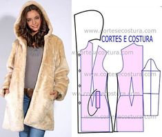 With the arrival of cold weather, it is important to have in your wardrobe a model of raw colored fur coat. Why raw color? Easy Sewing Patterns, Coat Patterns, Clothing Patterns, Dress Patterns, Sewing Clothes, Diy Clothes, Clothes For Women, Aya Couture, Costura Fashion