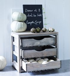 I'll bet we could recycle something from MSU Surplus and make this ourselves!  Three drawer vegetable rack l Gardenista