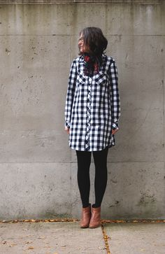 "Pattern: Alder Shirtdress View A with sleeves from the Archer Button Up Pattern Tutorial: Archer + Alder Variation Fabric: Carolina Gingham 1"" from Robert Kaufman Shoes: Rachel Comey Penpals (cause..."