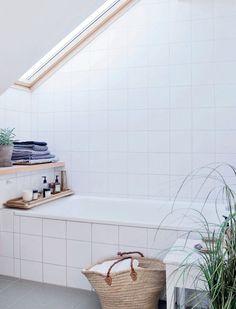 Attic Remodel How To Build bungalow attic bathroom.Old Attic Ladder attic layout design. Attic Bathroom, Attic Rooms, Laundry In Bathroom, Bathrooms, White Bathroom, Attic Playroom, Simple Bathroom, Serene Bathroom, Attic Library