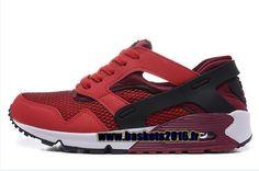 Chaussures Nike Air Max 90 Current Huarache ND Pas Cher Officiel Pour Homme Noir - Blanc - Rouge