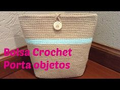 Bolsa a crochet porta objetos - YouTube