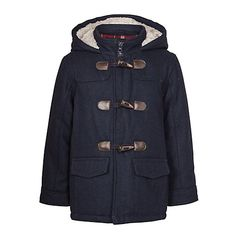 Buy John Lewis Boy Duffel Wool Coat, Blue Online at johnlewis.com