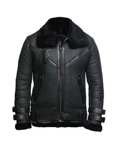Brandslock Mens Genuine Leather Biker Jacket Harrington Vintage Waxed Brando