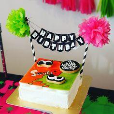 スプラトゥーンパーティー バースデーケーキ #スプラトゥーン #スプラトゥーン2 #splatoon #splatoon2 #birthday #birthdayparty #birthdayparty #誕生日 #誕生会 #バースデー