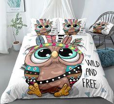 Owl Bedding, Kids Bedding Sets, Comforter Sets, Pillow Shams, Pillow Cases, Cotton Duvet, Beautiful Patterns, Duvet Cover Sets, Comforters