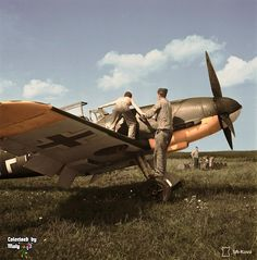 Colorized picture of a Bf 109F in 1942.