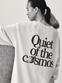 Quiet of The Cosmos Quotes For Shirts, Love Website, Textiles, Minimal Fashion, Printed Tees, Cosmos, Plus Size Fashion, Cool Outfits, Style