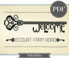 Welcome to my home Cross Stitch PDF by StitchKits on Etsy