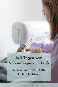 Nähen lernen – der BESTE Nähkurs (GRATIS) The best sewing course if you want to learn to sew. Beginner Sewing Patterns, Sewing Basics, Free Sewing, Knitting Patterns, How To Start Knitting, Knitting For Beginners, Beginners Sewing, Diy Dusters, Sewing Courses