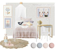 Girlsroom by Oh.Eight.Oh.nIne. Scandi Flower nursery art by Little Design Haus.