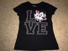 Sale Vintage MICKEY and MINNIE MOUSE Love black T by casualisme