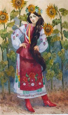 Contemporary Decorative Art, Mosaic Portrait, Ethno Style, Caricature Drawing, Ukrainian Art, Bohemian Art, Illusion Art, Naive Art, Children's Book Illustration