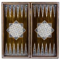 "HM Egyptian Inlaid Mother Of Pearl Backgammon / Chess Board 20"" by NileCart #NileCart"