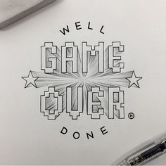 'Game Over, Well Done' - An incredible piece of hand lettering by @anthonyjhos!