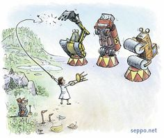 Soil protection  , keywords:   soil protection contamination environmental protection polluted pollution hazardous wastes legislation regulations supervision monitoring excavator shovel tanker truck road roller chemicals land use building vole worms civil engineering cartoon