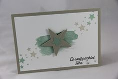 StampinFantasy: Sterne Punch Art Cards, Stampin Up, Frame, Winter, Decor, Xmas, Manualidades, Christmas, Crafting