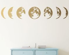 Moon Phases Wall Decal Moon Phase Decor Celestial Wall Art   Etsy Classroom Wall Decor, Classroom Walls, Kids Room Wall Stickers, Wall Decals, Wall Art, Gold Wall Decor, Moon Decor, Gold Walls, My New Room