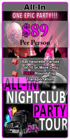 Plan an EPIC Las Vegas Bachelorette Party or ladies night out in Sin City with Party Tours Bachelor Party Vegas, Bachelorette Party Planning, Vegas Bachelorette, Bachlorette Party, Bachelorette Party Decorations, Las Vegas Wedding Packages, Wedding Party Games, Before Wedding, Wedding Decor