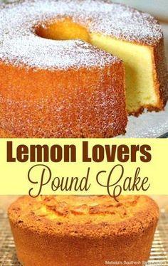Lemon Lovers Pound Cake - Easy Crafts for All Lemon Desserts, Lemon Recipes, Just Desserts, Delicious Desserts, Dessert Recipes, Southern Desserts, Iced Lemon Pound Cake, Sour Cream Pound Cake, Food Cakes