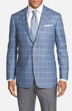 Hart Schaffner Marx Classic Fit Plaid Wool Blend Sport Coat available at #Nordstrom