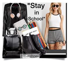 """""""Back to School: New Shoes"""" by mycherryblossom ❤ liked on Polyvore featuring mode, Forever 21, Boohoo et Frends"""