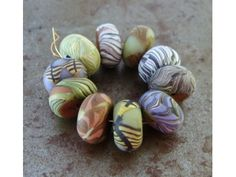 Summer Forest Disk Beads