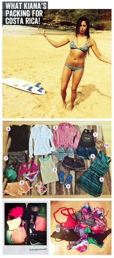 Need help packing for a beach trip? See what O'Neill Surf Pro Malia Manuel is packing for her trip to Costa Rica!