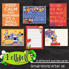 Small World After All Journal Cards