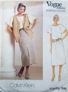 Vogue American Designer 1329 Calvin Klein Pattern by Denisecraft, $10.99
