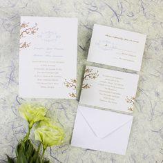 Online Beautiful Cherry Blossom cream wedding invitations EWI098 as low as $0.94