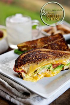 Chicken, Avocado & Tomato Grilled Cheese would be so good on Udi's GF Millet Chia bread! #Drool!