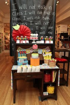 Shelly, This is an idea for you. Back to School Dessert Table by Fresh Chick Design Studio via Project Nursery