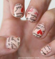Love letter #nails