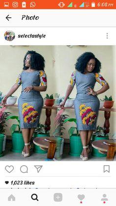 Ankara designs African Print Dresses, African Wear, African Fashion Dresses, African Dress, Ankara Designs, Ankara Styles, Jeans Gown, Kitenge, Africa Fashion