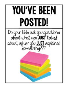 Been Posted Do your kids ask you questions about what you JUST talked about, after you JUST explained something?Do your kids ask you questions about what you JUST talked about, after you JUST explained something? 5th Grade Classroom, Middle School Classroom, Classroom Fun, School Teacher, Classroom Organization, Future Classroom, Kindergarten Classroom, Teacher Stuff, Classroom Hacks
