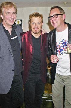 Alan, Eddie Izzard and  Vic Reeves