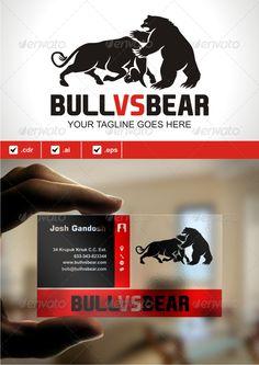 Bull VS Bear — Vector EPS #market war #market • Available here → https://graphicriver.net/item/bull-vs-bear/5520845?ref=pxcr
