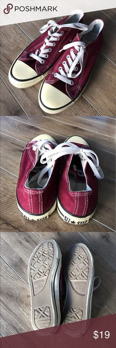 All star converse sneakers Burgundy Lace Up Sz 6 All star converse sneakers Burgundy Lace Up Sz 6 Converse Shoes Sneakers