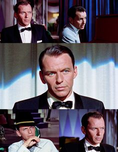 """""""The blue-eyed ray: Sinatra's eyes emitted an intense beam of either romance or rage. Hollywood Stars, Classic Hollywood, Old Hollywood, Music Happy, Pierce Brosnan, Gene Kelly, Dean Martin, Elvis Presley, Comedians"""
