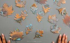 diy suspension et déco d'automne avec feuilles mortes