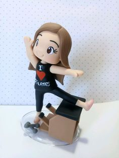 Pilates, Fondant, Chibi Girl, Polymer Clay Dolls, Lettering Tutorial, Gum Paste, Biscuits, Diy And Crafts, Cake