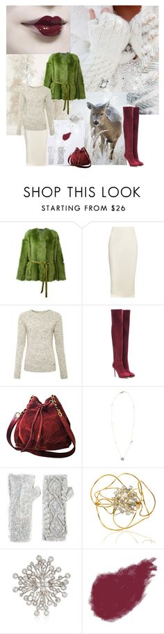 """""""Winter's Kiss"""" by sue-mes ❤ liked on Polyvore featuring Rochas, Joseph, Superdry, Jimmy Choo, Chanel, Gucci, Filles à papa, Ross-Simons and Bobbi Brown Cosmetics"""
